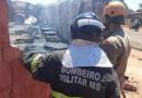 Vídeo Incêndio – Caixas d'agua pegam fogo em depósito no Aero Rancho