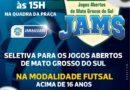 Departamento de esportes de Jaraguári faz seletiva para jogos aberto de MS.JAMS