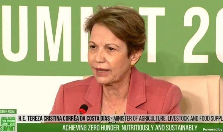ONU: Tereza Cristina representa o Brasil durante debate sobre sistemas alimentares globais em Roma